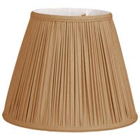 Royal Designs Deep Empire Gather Pleat Basic Lamp Shade, Antique Gold, 6 x 12 x 9.25