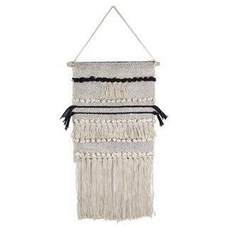Black and White Macrame Wall Hanging