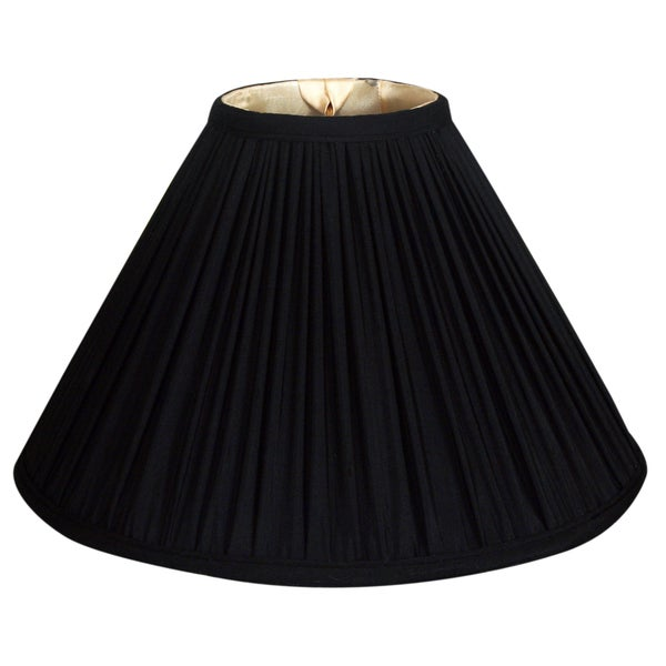 Royal Designs Coolie Empire Gather Pleat Basic Lamp Shade, Black, 7 x 20 x 12.5