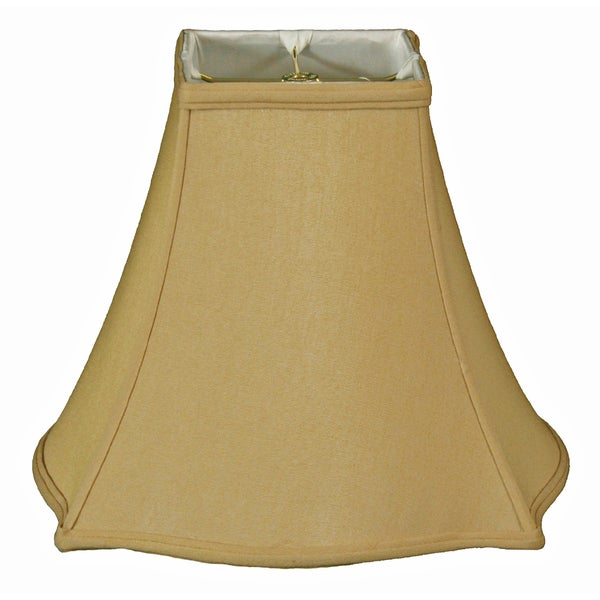 Royal Designs Fancy Square Bell Lamp Shade, Beige, 6 x 14 x 11.5