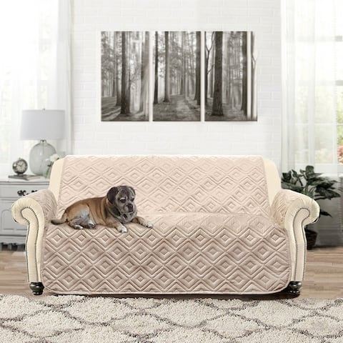 DriftAway Water-Resistant Quilted Loveseat Protector for Kids, Pets