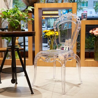 Gittel Clear Acrylic Dining Chair (Set of 2) - N/A