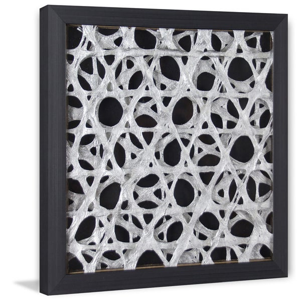 Marmont Hill Handmade Gray Space Paper Art In Shadow Box On Sale Overstock 19446300