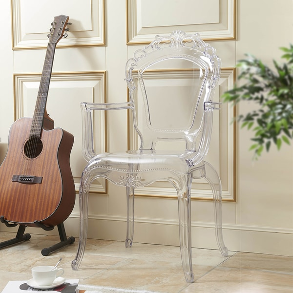 Merveilleux Gittel Clear Acrylic Arm Chair Dining Chair (Set Of 2)   N/A