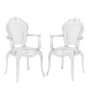 Gittel Clear Acrylic Arm Chair Dining Chair (Set of 2)