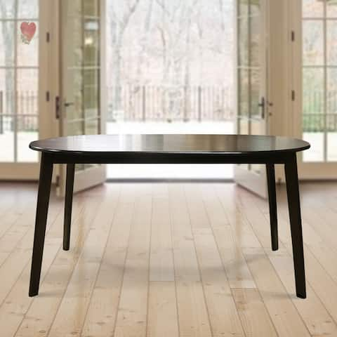Warehouse of Tiffany Mario Cappuccino Dark Brown Wood 59-inch Oval Dining Table