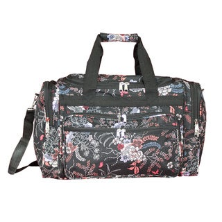 World Traveler Flower 19-inch Lightweight Carry-On Duffle Bag