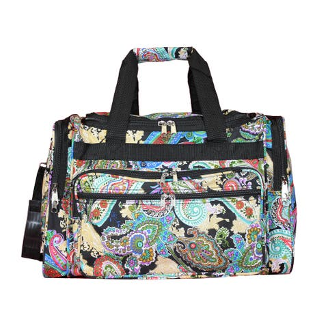 World Traveler Paisley 19-inch Lightweight Carry-On Duffle Bag