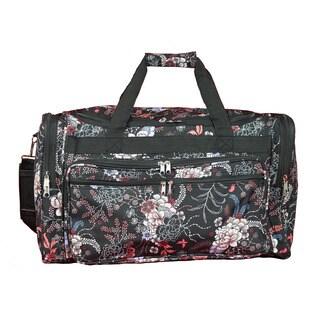 World Traveler Flower 22-inch Lightweight Duffle Bag