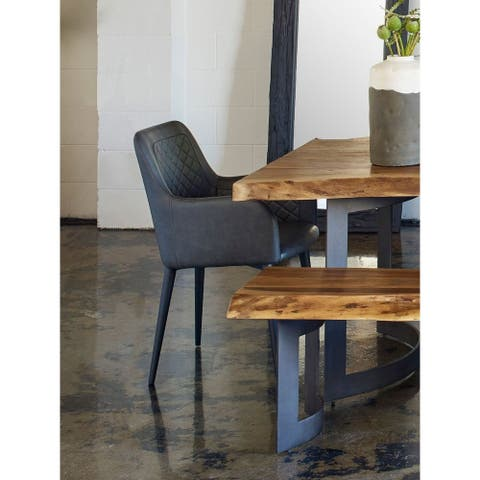 Aurelle Home Belfort Eco-Leather Dining Chair