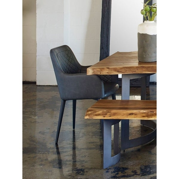 Shop Aurelle Home Belfort Eco Leather Dining Chair On