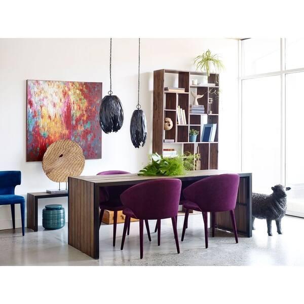Aurelle Home Purple Velvet Contemporary Modern Dining Chair Overstock 19446642
