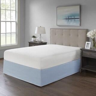 Madison Park Simple Fit Wrap Around Adjustable 26-inch Drop Bedskirt 5-Color Option