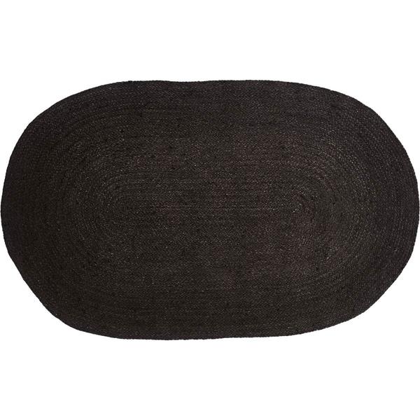 "Shop Black Jute Oval Rug (2'3"" X 4')"