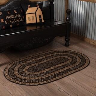 "Black Primitive Flooring VHC Farmhouse Rug Jute - 2'3"" x 4'"