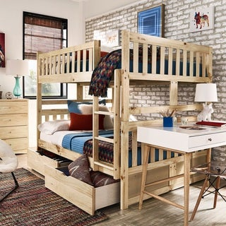 Hunter Full over Full Natural Wood Bunk Bed by iNSPIRE Q Junior