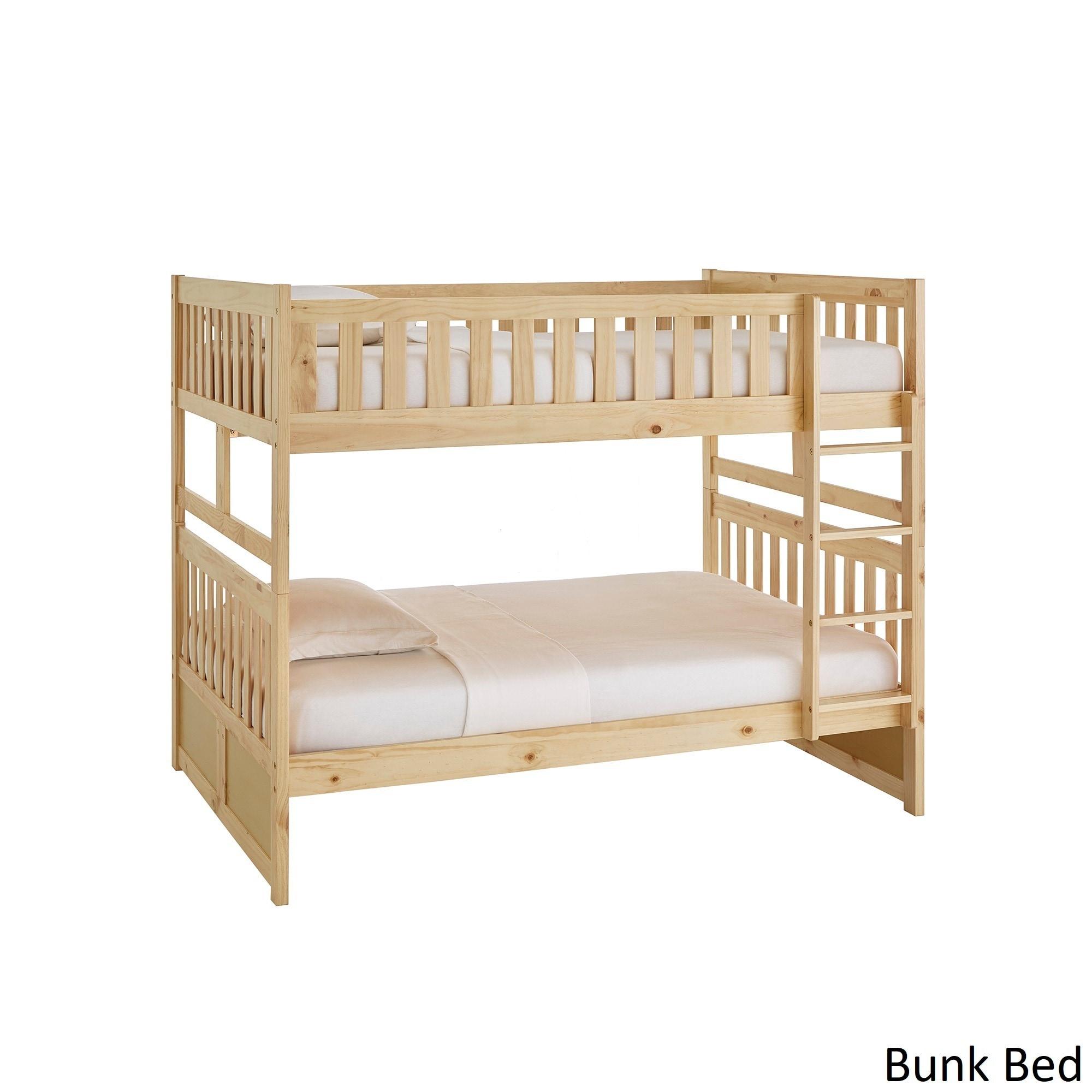 Hunter Full over Full Natural Wood Bunk Bed by iNSPIRE Q Junior   eBay