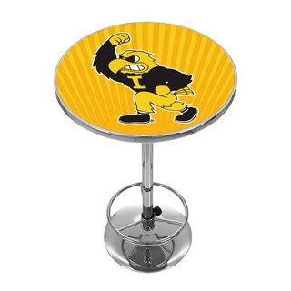 University of Iowa Chrome Pub Table - Herky