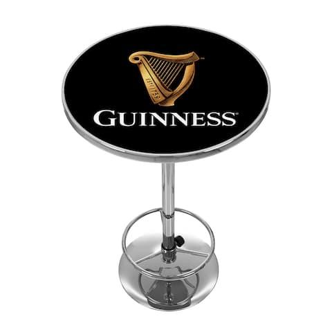 Guinness Chrome Pub Table - Harp