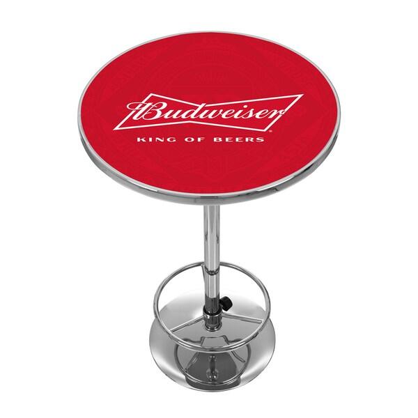 Budweiser Chrome Pub Table - Bow Tie