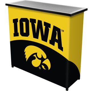 University of Iowa Portable Bar with Case - Logo