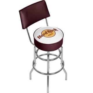 Hard Rock Cafe Swivel Bar Stool with Back