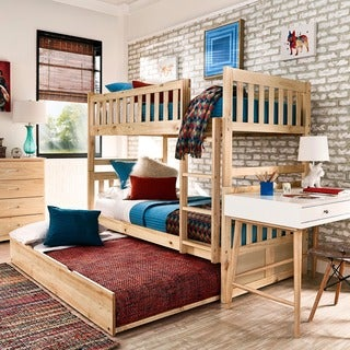 Hunter Twin over Twin Natural Wood Bunk Bed by iNSPIRE Q Junior