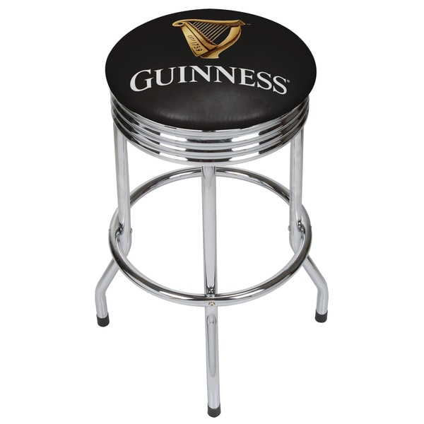 Guinness Chrome Ribbed Bar Stool - Harp