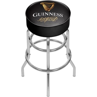 Guinness Chrome Bar Stool With Swivel Signature