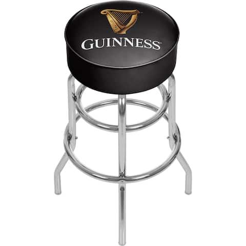 Guinness Chrome Bar Stool with Swivel - Harp