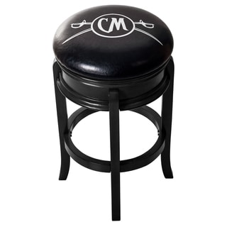 Captain Morgan Custom Wood Swivel Bar Stool (Black Wood Grain Base) - Cutlass