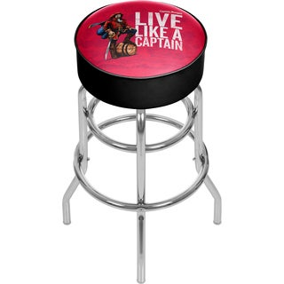 Captain Morgan Chrome Bar Stool with Swivel