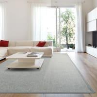 iCustomRug Soft Synthetic Sisal with Silver Border - 9' x 12'