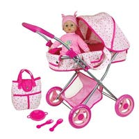 """Lissi Doll Pram with 13"""" Baby Doll and Accessories"""