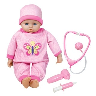 """Lissi 16"""" Baby Doll Doctor & Medical Set w/ 6 Interactive Functions"""