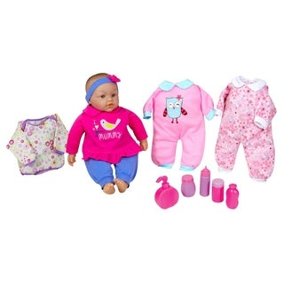 """Lissi 15"""" Baby Doll Set w/ Extra Clothes & Accessories"""