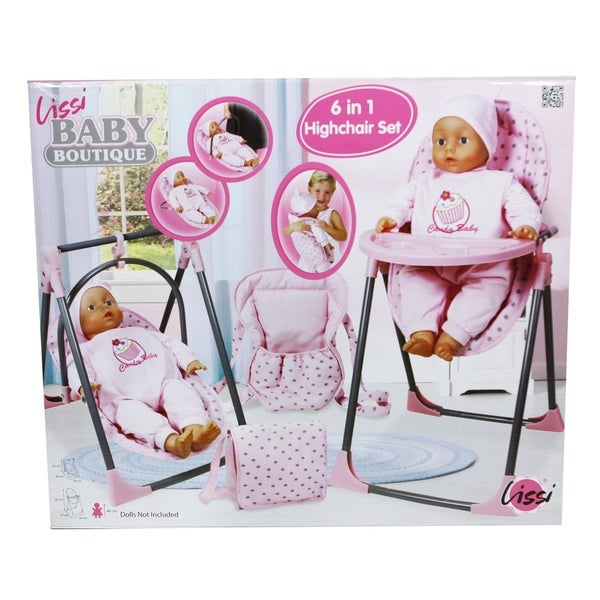 4c7694681f43 Shop Lissi Baby Doll 6-in-1 Convertible Highchair Play Set - Free Shipping  On Orders Over  45 - Overstock - 19447466