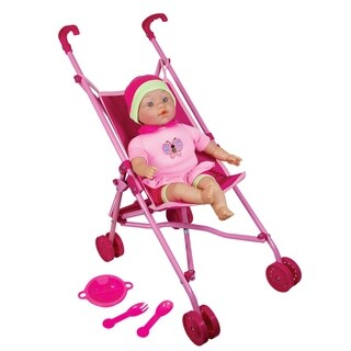 "Lissi Doll Umbrella Stroller Set with 16"" Baby Doll"