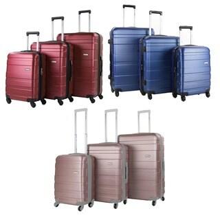 World Traveler Primavera Hardside 3-Piece Expandable Spinner Upright Luggage Set