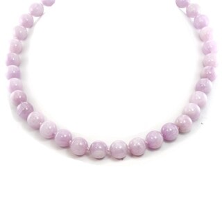 Michael Valitutti Palladium Silver Kunzite Bead Toggle Necklace