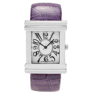 Geneva Women's Platinum Croc Skin Stamped Antique Watch (3 options available)