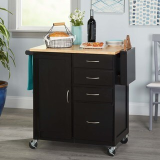 Simple Living Rolling Hawaii Kitchen Cart - N/A