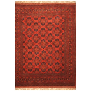 Handmade Khal Mohammadi Wool Rug (Afghanistan) - 4'10 x 6'8