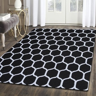 Kotter Home Hand Tufted Honeycomb Wool Rug (5' X 8')