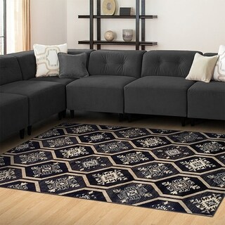 Kotter Home Modern Aurora Hexagon Pattern Rug (8' X 10')