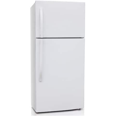 Midea 18.0-Cu. Ft. Top-Mount Refrigerator in White
