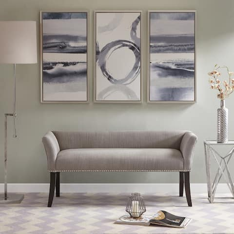 Madison Park Antonio Grey Upholstered Rectangle Accent Bench