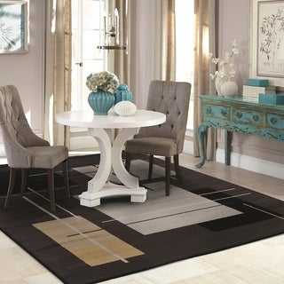 Kotter Home Modern Stella Geometric Rug in Black - 2' x 3'