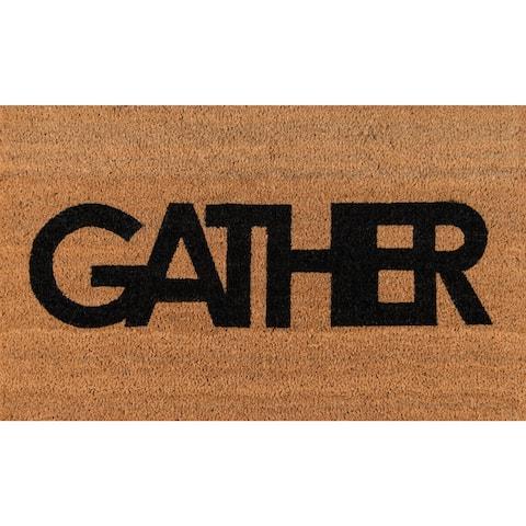 """Novogratz by Momeni Aloha Coir Gather Coir Doormat 1'6"""" x 2'6"""" - 1'6"""" x 2'6"""""""