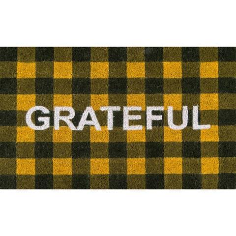 "Novogratz by Momeni Grateful Door Mat 1'6"" X 2'6"""
